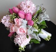 ramos de novia, flores de temporada, jacintos, enabodate, wedding planner